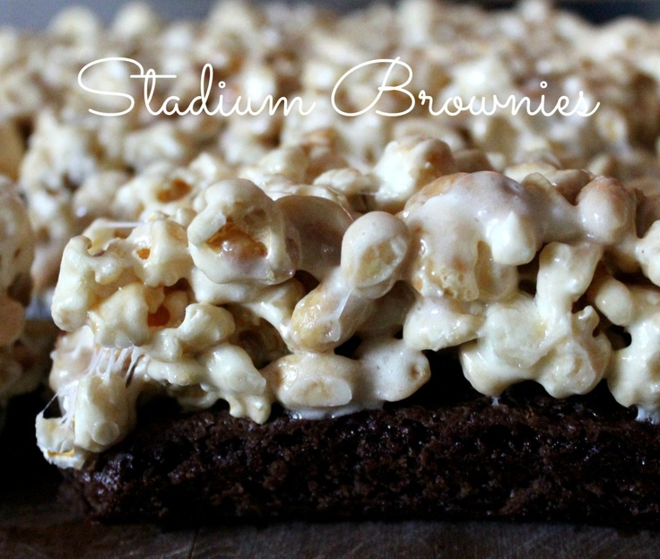Stadium Brownies from @ohbiteit | OM NOM: Brownies & Bars | Pinterest