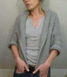 Easy Shrug Knitting Pattern Free : easy chunky shrug....free! KNIT Pinterest