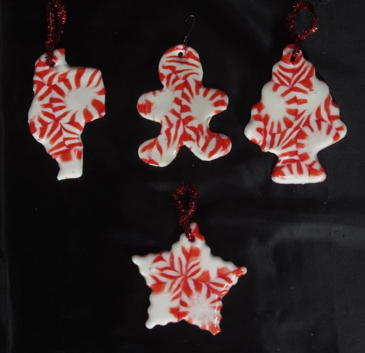 Melted Peppermint Candy Ornaments: Pin By Jennifer Savage On My Creations....