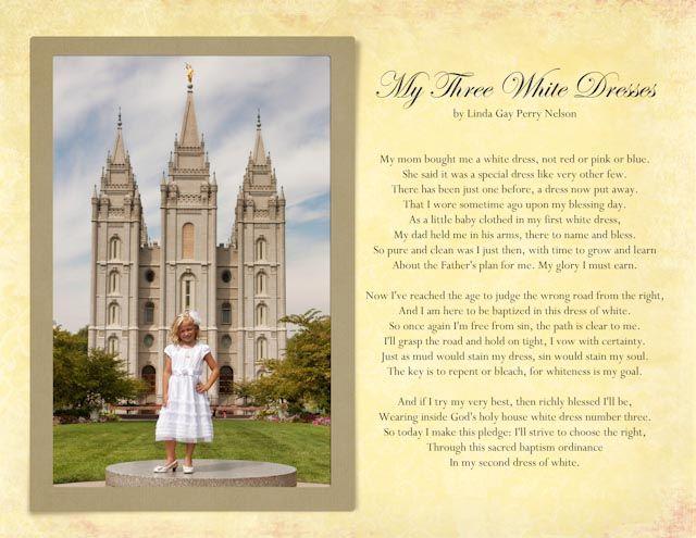 Three white dresses poem for baptism church pinterest