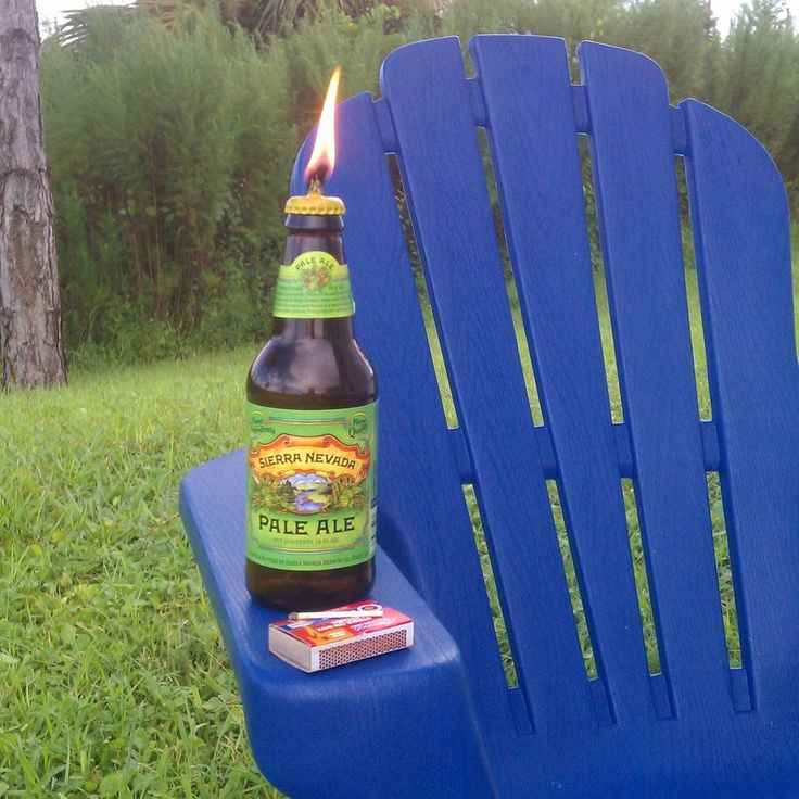 Glass bottle tiki torch for Diy beer bottle tiki torches