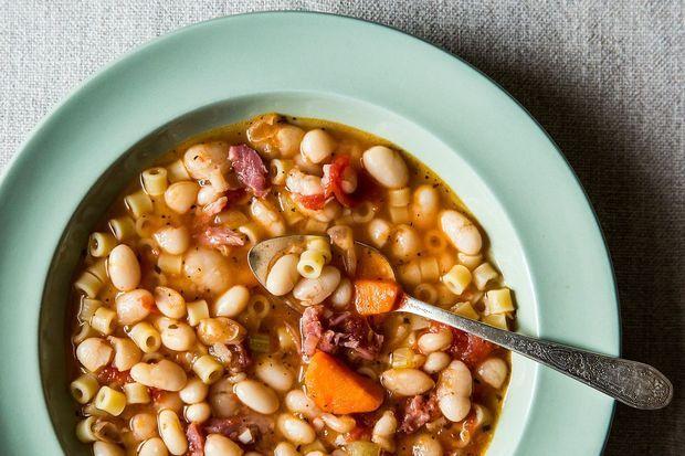 Pasta Fagioli (Pasta And Beans) Recipe — Dishmaps