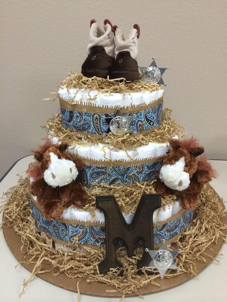 Western theme diaper cake diaper cakes pinterest