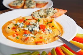 Buffalo chicken chowder-perfect for cold Steelers tailgates!