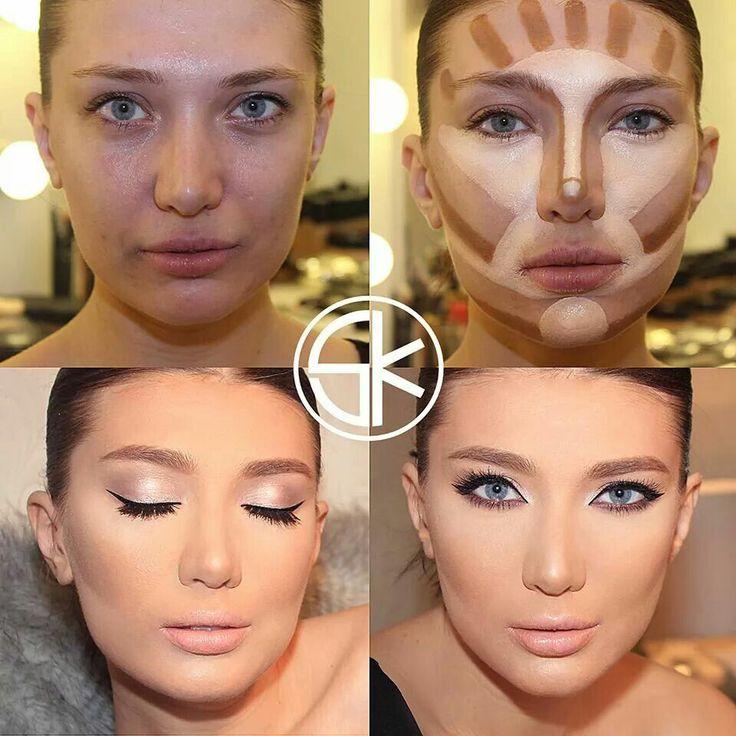 Как правильно накладывать макияж на лицо