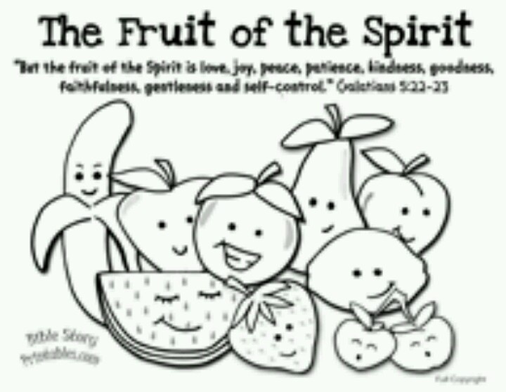 fruits of spirit coloring pages - photo#7
