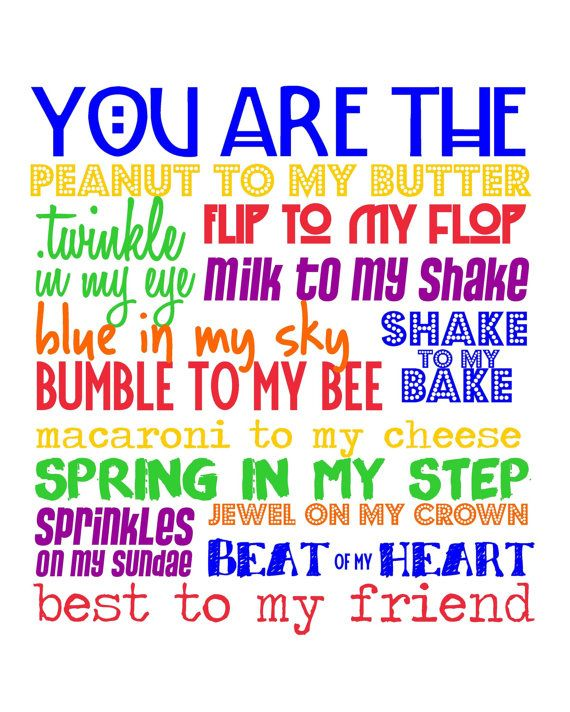 You are the Peanut to my Butter...  Best Friend by sweetleighmama, $12.00