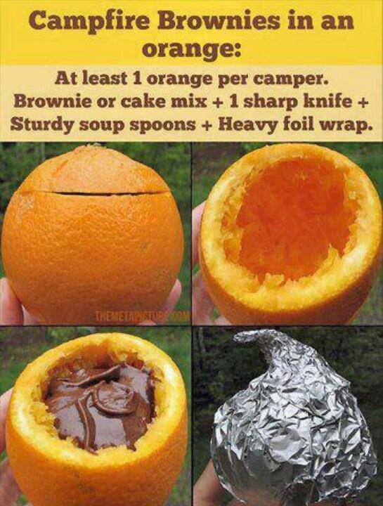 Brownie oranges   Camping   Pinterest