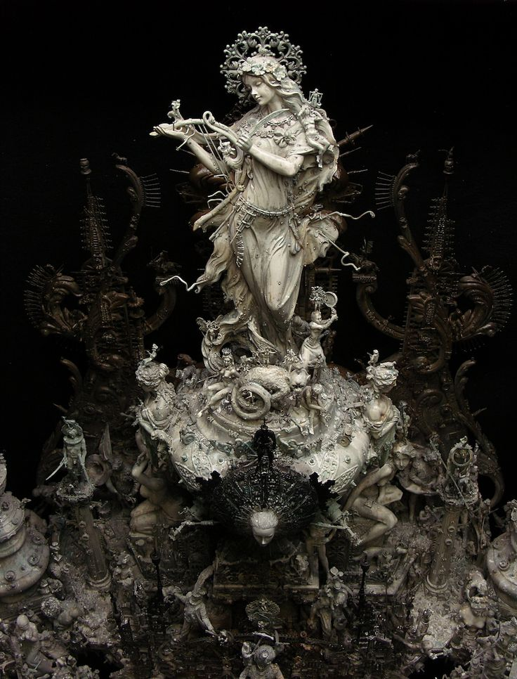 Kris Kuksi ornate baroque sculptures | Tekenen / Modellen ...