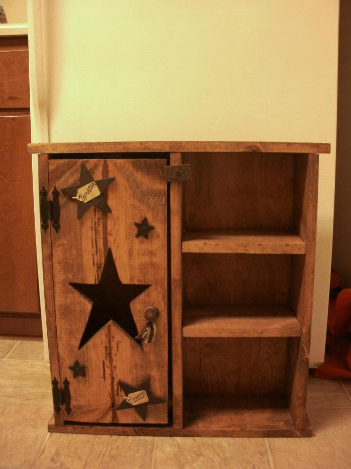 Homemade primitive cabinet decor ideas pinterest for Homemade furniture