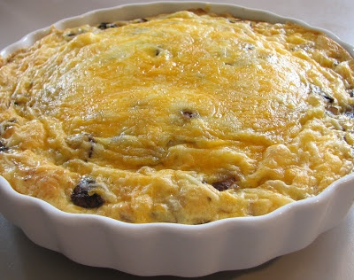 For the Love of Cooking » Ham, Mushroom and Cheddar Frittata