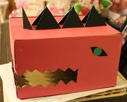 dinosaur valentines day box