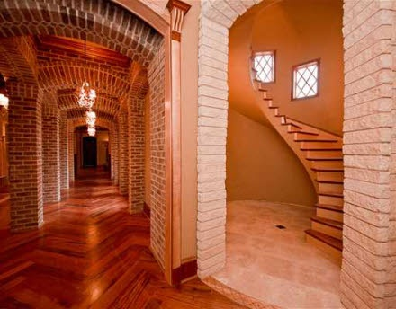 Awesome floating staircase in the castle in bentonville