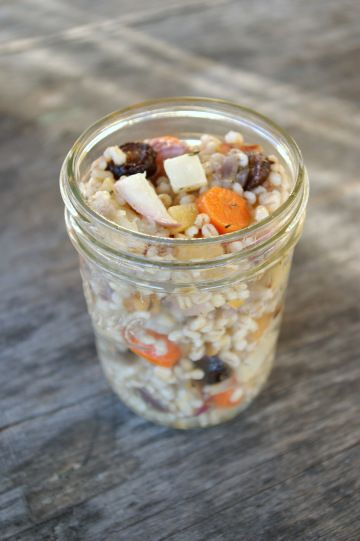 Roasted Root Vegetable Wheat Berry Salad | In a jar | Pinterest