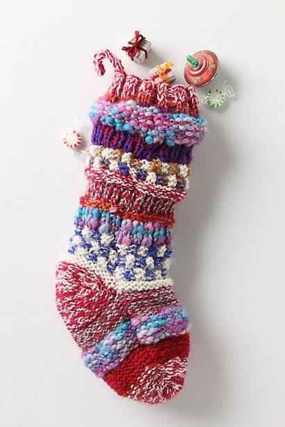 Knitting Pattern For Chunky Christmas Stocking : Knit Stocking Happy Christmas! Pinterest