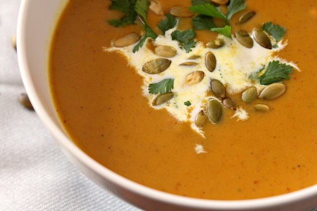 Sweet & Spicy Curried Pumpkin Peanut Soup...this would be daring to ...