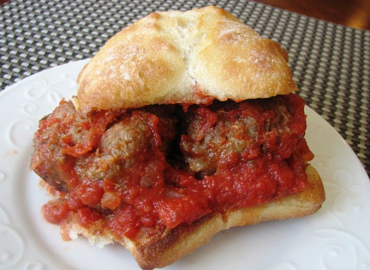 MEATBALL SANDWICH | Beef | Pinterest