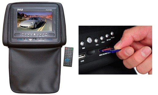 """$159 for a Pyle 7"""" DVD Player Headrest from Kijiji Exclusive ($378.54 Value) - Includes Taxes and Shipping"""