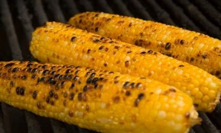 Lime & chile grilled corn on the cob | Veggies | Pinterest