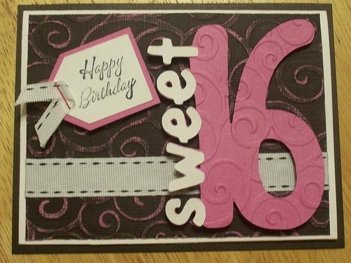 Sweet 16 Birthday Card Ideas