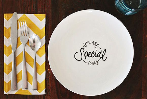 "DIY ""You Are Special Today"" Plate for Kids"