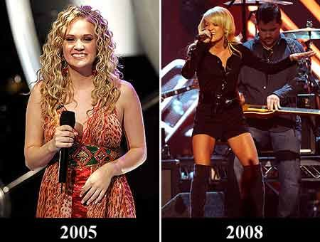 Carrie Underwood...Before and After | get fit woooo ...
