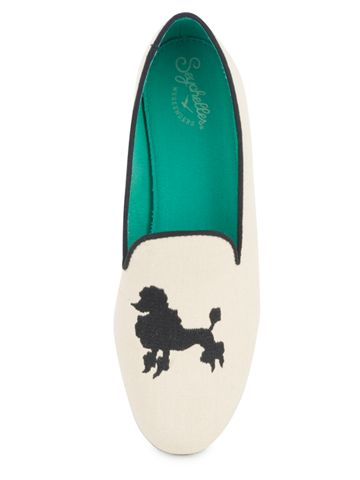 Poodle smoking slippers