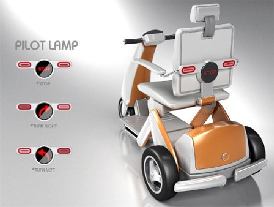 Universal Electric Scooter For The Elderly And The