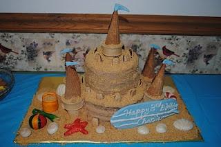 Sand Castle Cake - Beach Party!