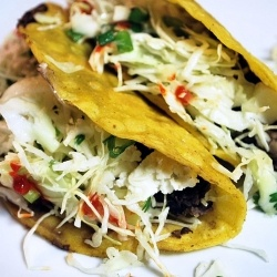 Crispy Black Bean Tacos with Feta and Cabbage Slaw. | Green Inspired ...