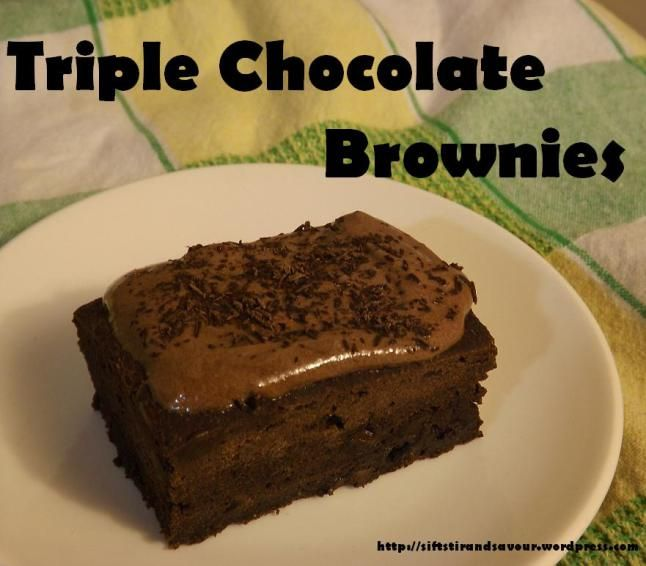Triple Chocolate Brownie | Food | Pinterest