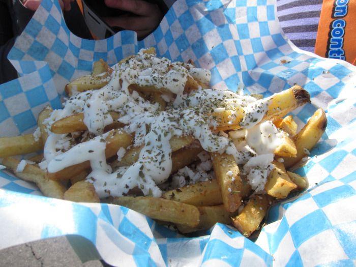 Greek Fries (Feta & Tzatziki). | Eating Your Content | Pinterest