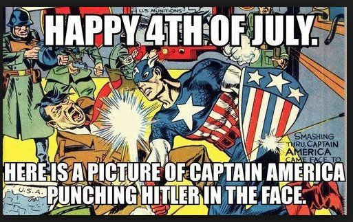 4th of july captain america images