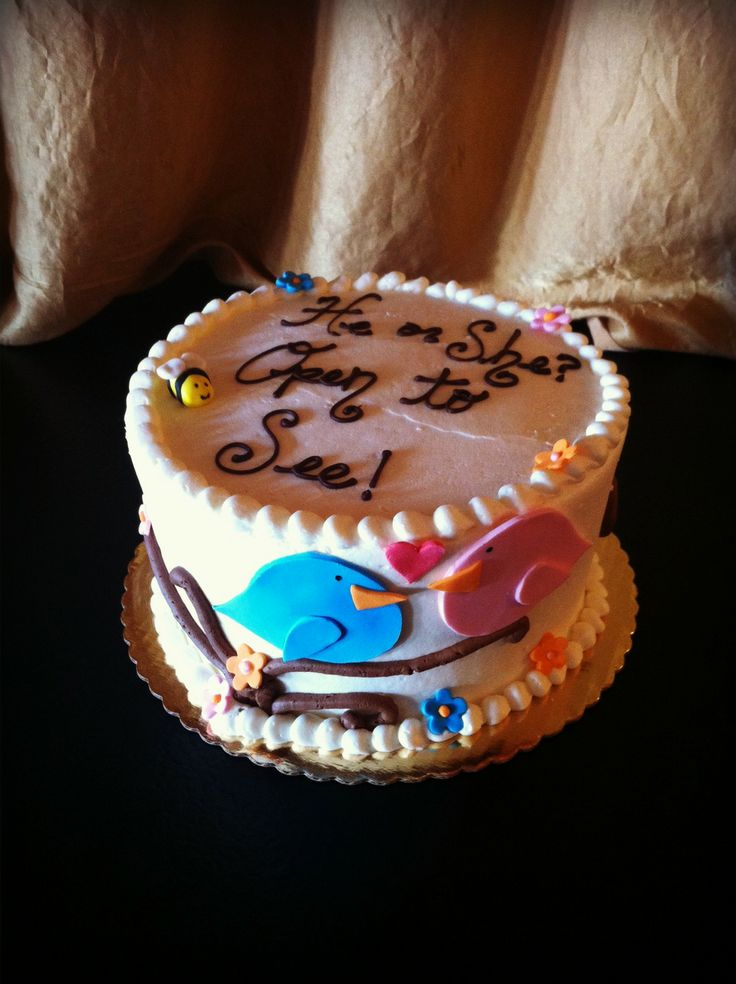 baby shower reveal cake cakes pinterest