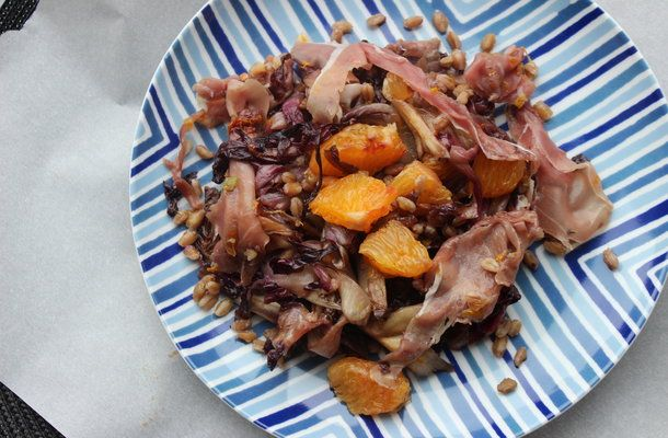 Lunchbox: Make-Ahead Farro with Radicchio, Prosciutto and Orange