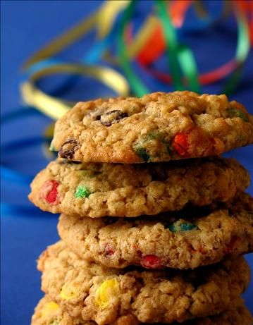 chewy oatmeal and m amp m cookies recipe really good just finished ...