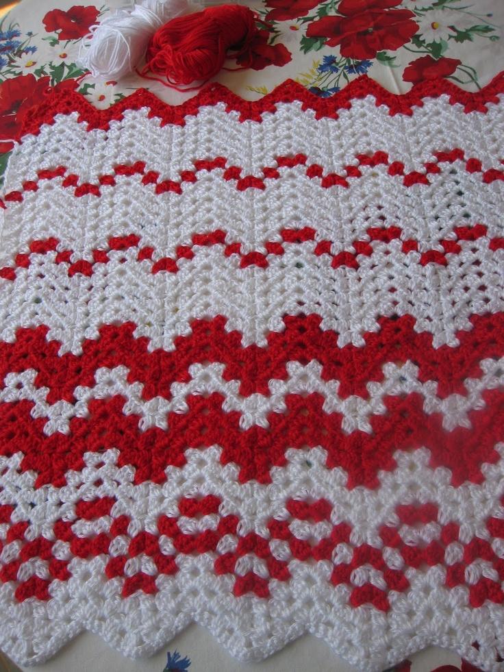 Crochet Pattern For Peppermint Afghan : Candy Cane Afghan Crochet Pinterest