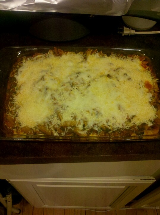 Baked Pasta with Sausage and Spinach I did it!!! Made a recipe from ...