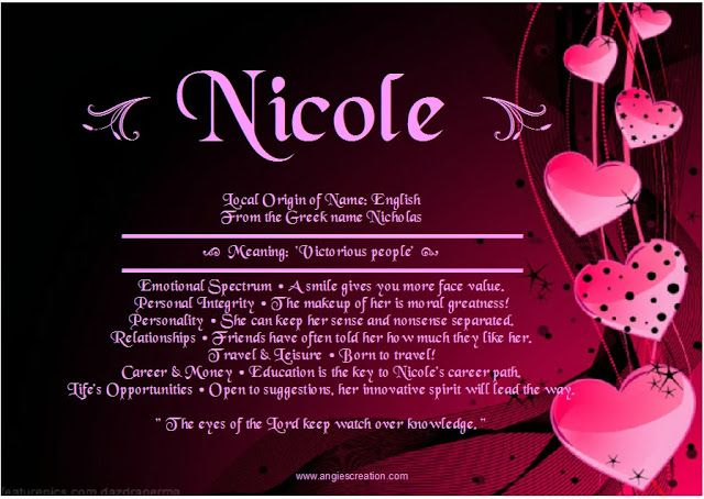 Meaning of the name Nicole | All things NICOLE | Pinterest