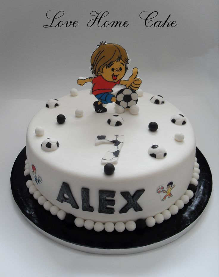 Cake Design For 7th Birthday Boy : Football Cake for a boy s 7th Birthday Boys parties ...