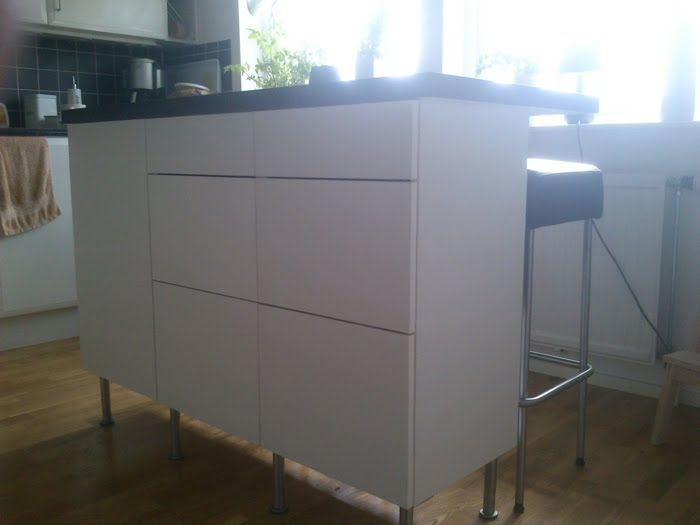 Hemnes Ikea Furniture Review ~ kitchen island is made from cabinets! Not sure if the Faktum cabinet