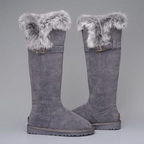 gray fur uggs