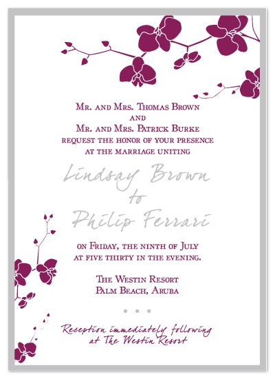 Orchid Wedding Invitations is the best ideas you have to choose for invitation example