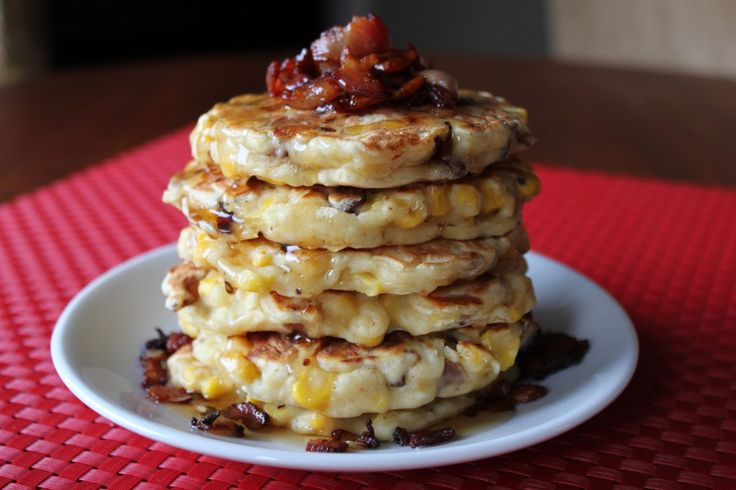 Corn & Bacon Griddle Cakes | Succulent Sides | Pinterest