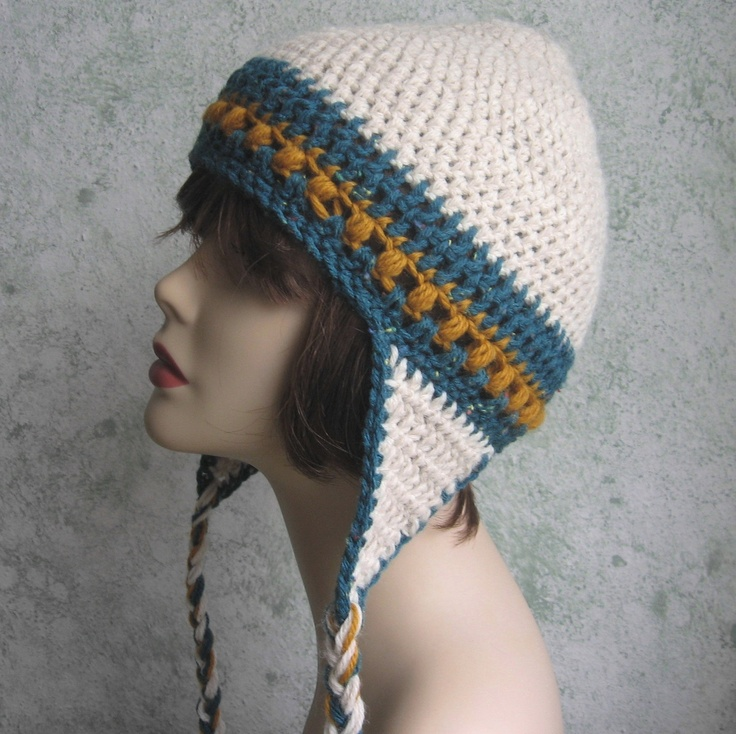 Crochet Ear Flap Hat Pattern PDF Easy Crochet Pinterest