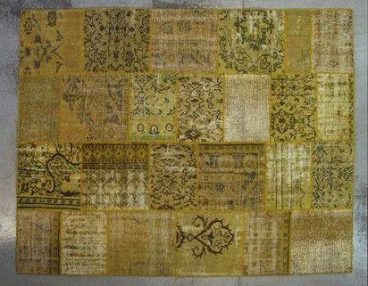 Tapis patchwork anis