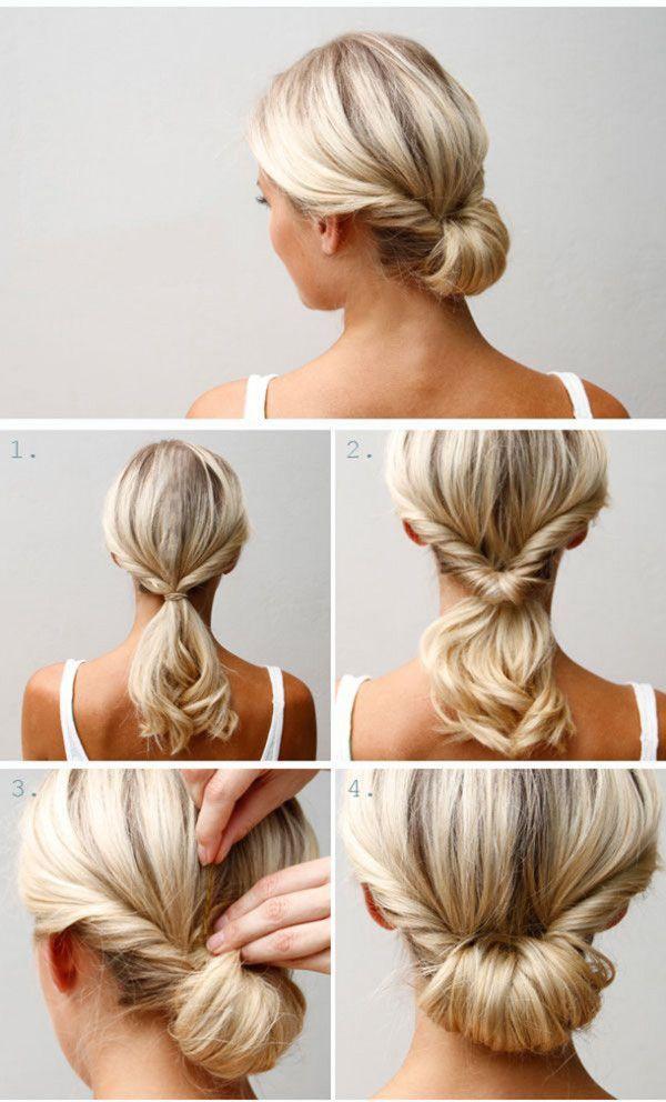 Прически для средней длины волос своими руками 9