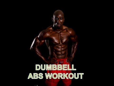Dumbbell abs workout youtube pt pinterest