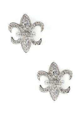 $29.00 Fleur-de-Lis CZ Stud Earrings  visit http://www.hautelook.com/short/3ApLt for designer items at discount prices. Free to join!    -future gift idea