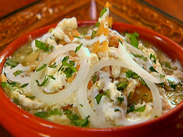 Chilaquiles with Roasted Tomatillo Salsa from FoodNetwork.com Love ...